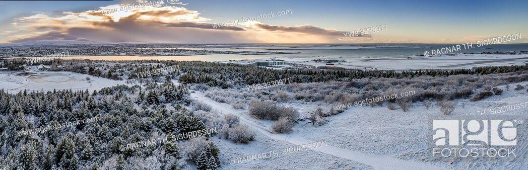 Stock Photo: Winter, Reykjavik, Iceland.