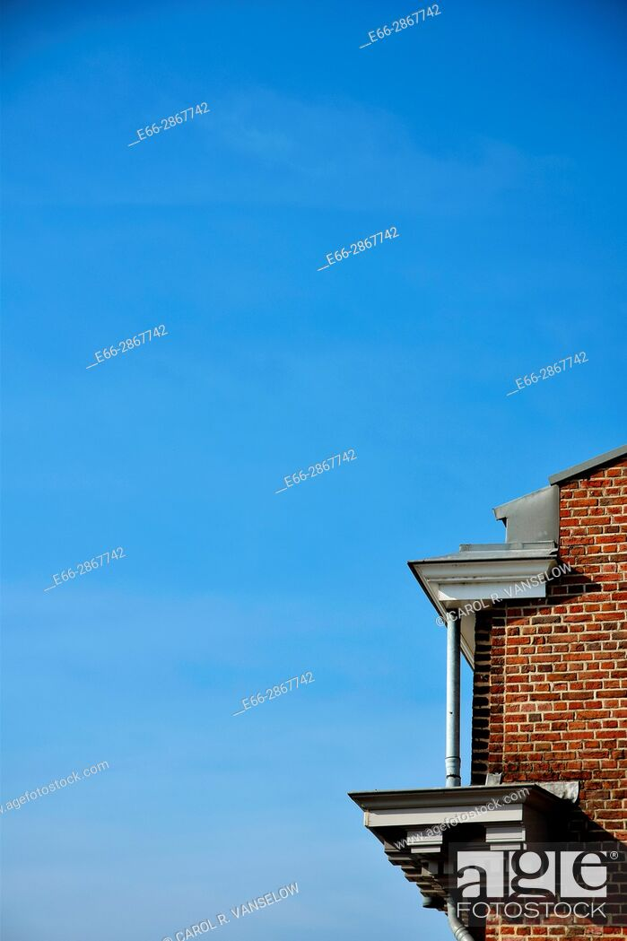 Stock Photo: Corner of the Vesteda building in Maastricht.