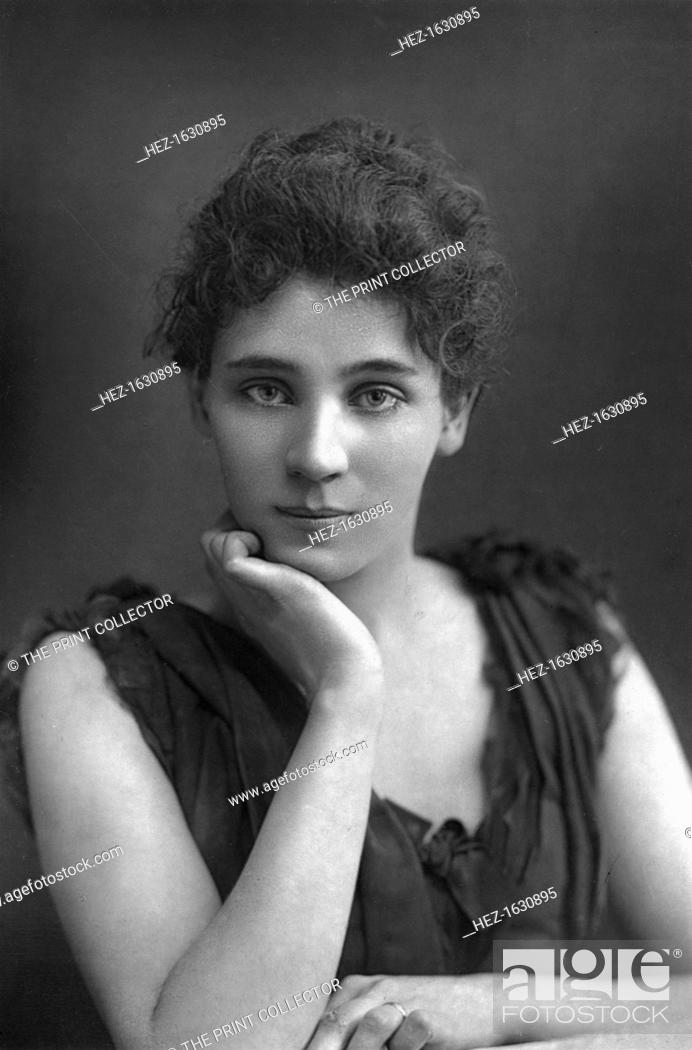 Stock Photo: Elizabeth Robins (1862-1952), American actress, playwright, novelist, and suffragette, 1893. From The Cabinet Portrait Gallery, fourth series.