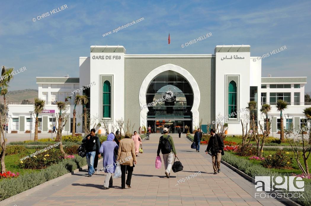 Stock Photo: Fes or Fez Railway Station Morocco.