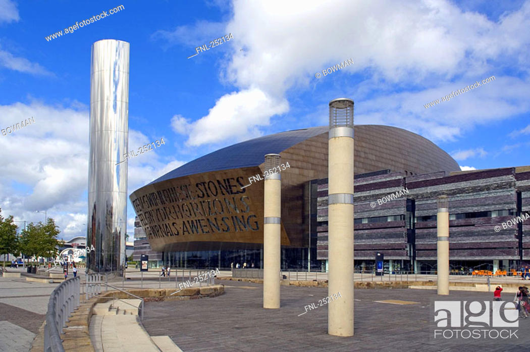 Stock Photo: Art centre in city, Wales Millennium Centre, Cardiff, Wales.