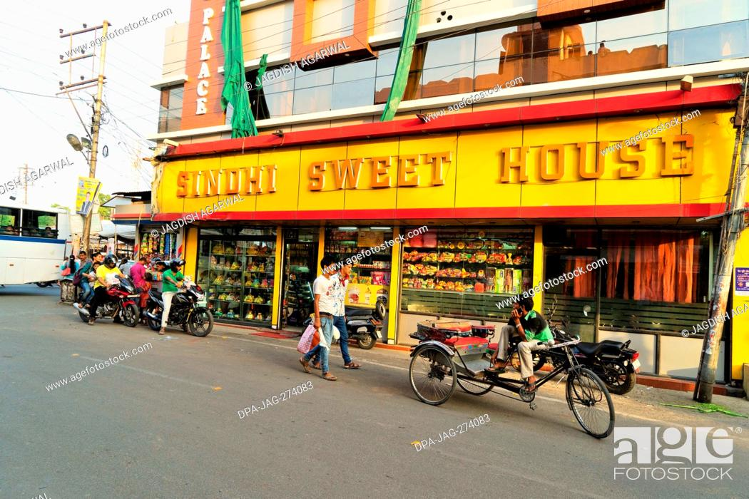 Stock Photo: Sindhi Sweet Shop, Haldwani, Nainital, Kumaon, Uttarakhand, India, Asia.
