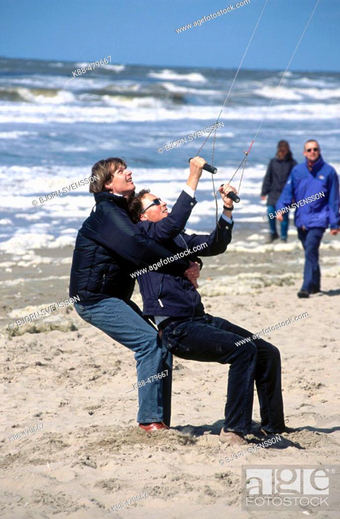 Stock Photo: Kite flying, Noordwijk. Holland.