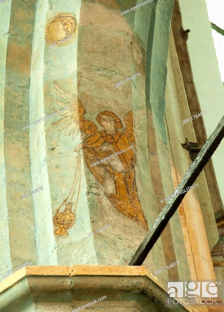 Stock Photo: Mural painting The Last Angel of Amsterdam, Oude Kerk church, Dutch for old church, Amsterdam, Holland, Netherlands, Europe.