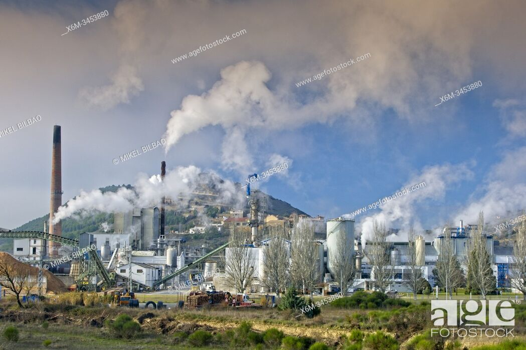 Stock Photo: Air pollution in an industrial plant. Spain, Europe.