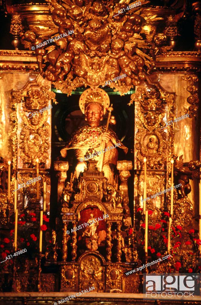 Stock Photo: St. James the Apostle, Cathedral of Santiago de Compostela, Spain.