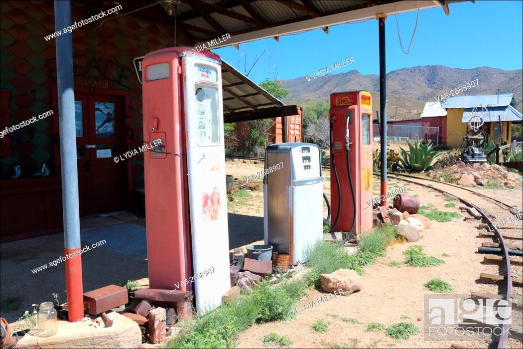 Old Gas Station Pumps Located In The Desert Town Of Chloride Arizona Usa Stock Photo Picture And Rights Managed Image Pic Va8 2688907 Agefotostock