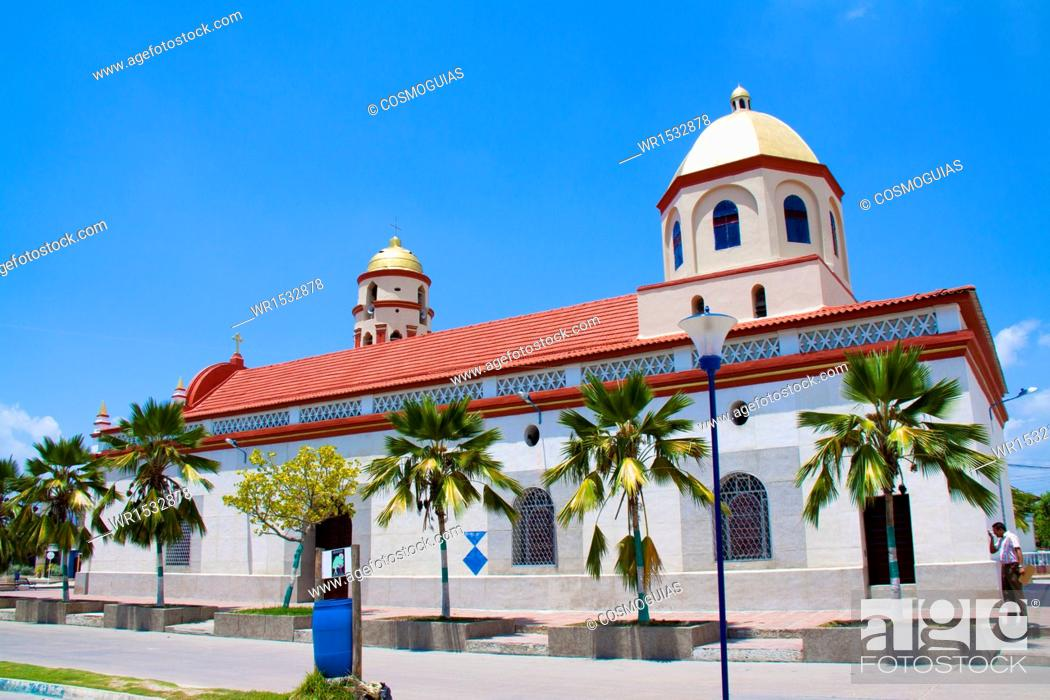 Stock Photo: Church of Santo Tomás de Villanueva, Santo Tomas, Atlantic Colombia.