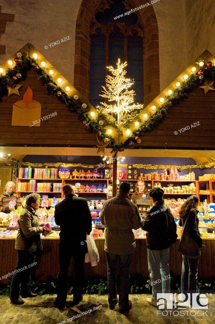 Stock Photo: Christmas markets, Basel, Switzerland.
