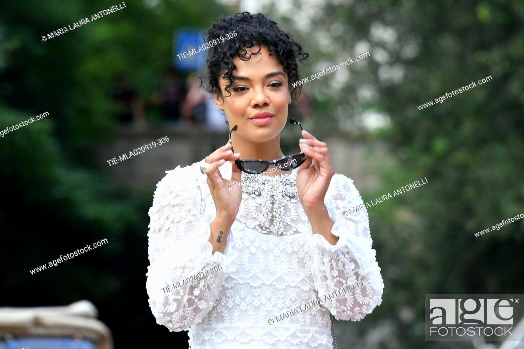 Stock Photo: Tessa Thompson arrives at the Lido Beach during the 76th annual Venice International Film Festival, in Venice, Italy, 02 September 2019.