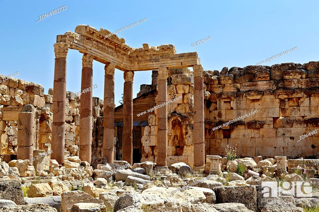 Stock Photo: Venus Temple - Baalbek, Lebanon.