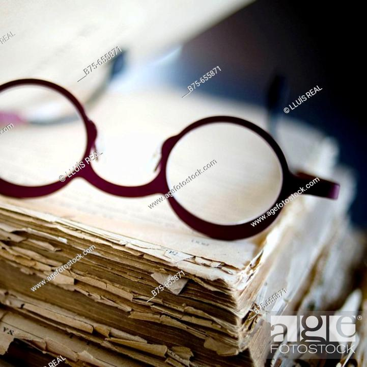 Stock Photo: Old book.