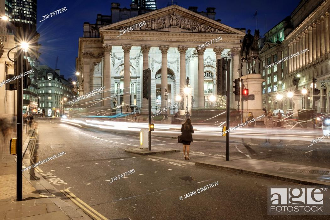 Stock Photo: City of London,The Royal Exchange,2015.