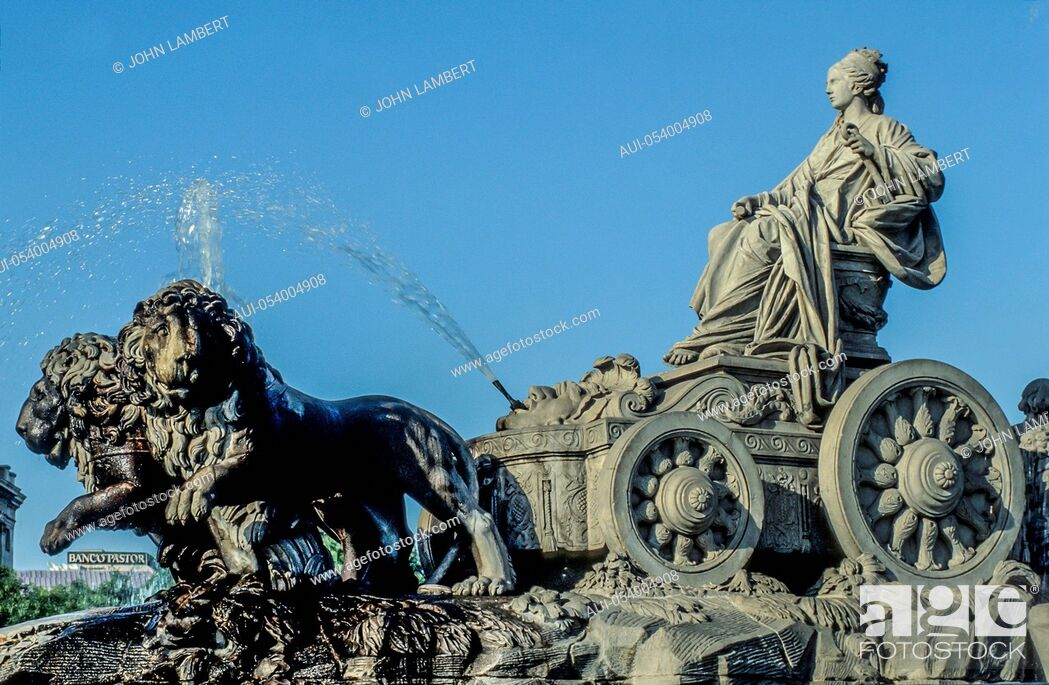 Stock Photo: spain, madrid, cibeles monument.