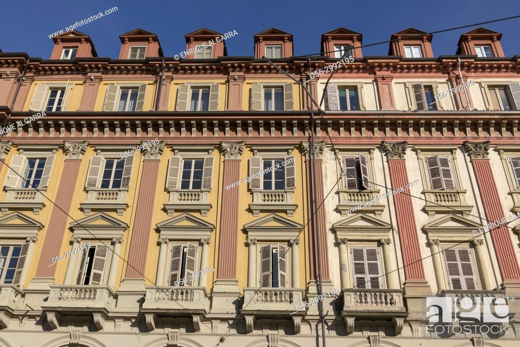 Stock Photo: Buildings, Piazza Statuto, Torino, Italy.