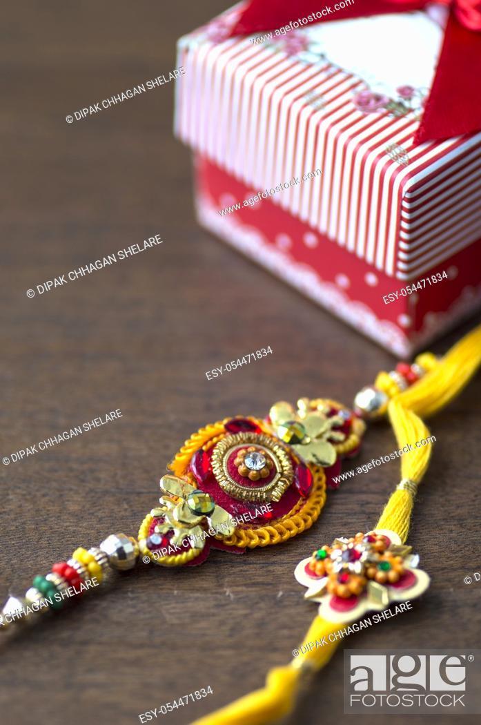 Stock Photo: Indian festival: Raksha Bandhan, Rakhi.