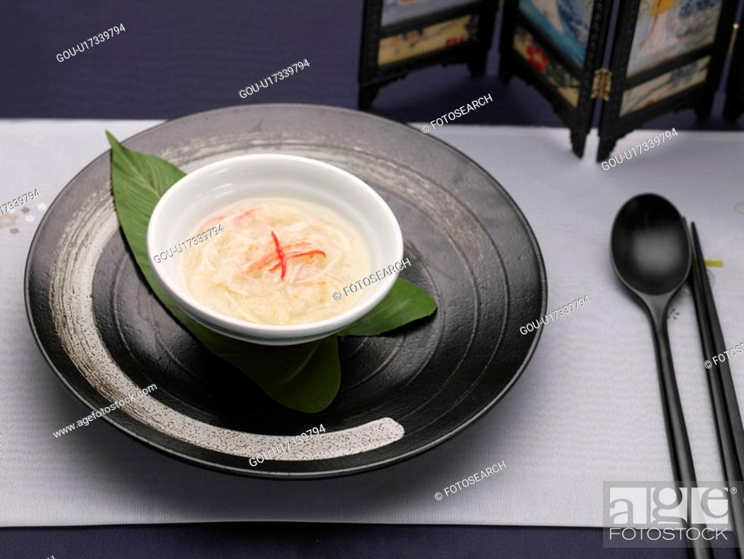 Stock Photo: dishes, Food styling, dish, dishes, dish, Chinese, crab meat soup.