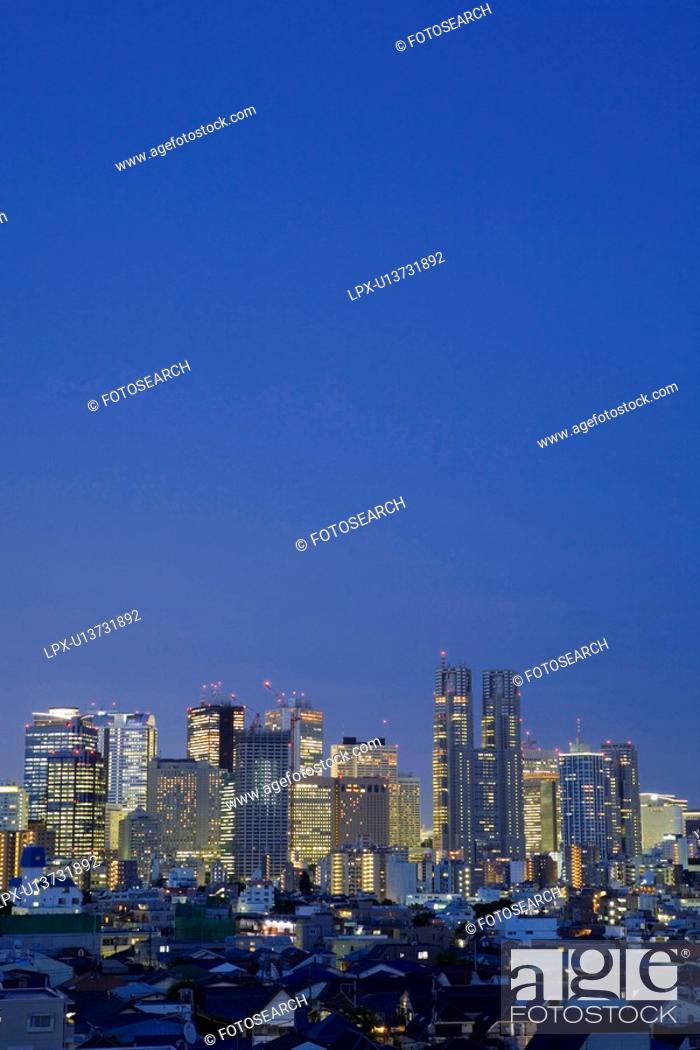 Stock Photo: Shinjuku high-rise buildings.