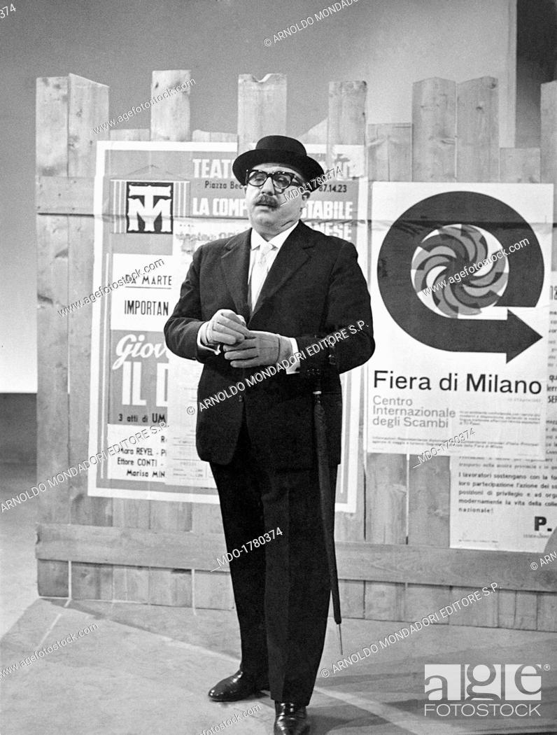 Marcello Marchesi On Stage Italian Singer Songwriter Comedian And