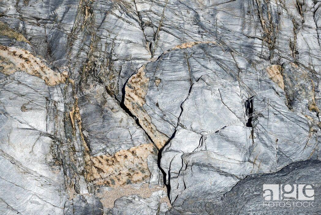 Stock Photo: Weathered and washed-slate, texture, Isle of Islay, Inner Hebrides, Scotland, United Kingdom.