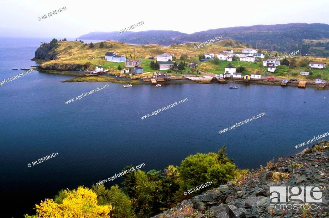 Stock Photo: Harbour Mille East, Burin Peninsula, Newfoundland, Canada.