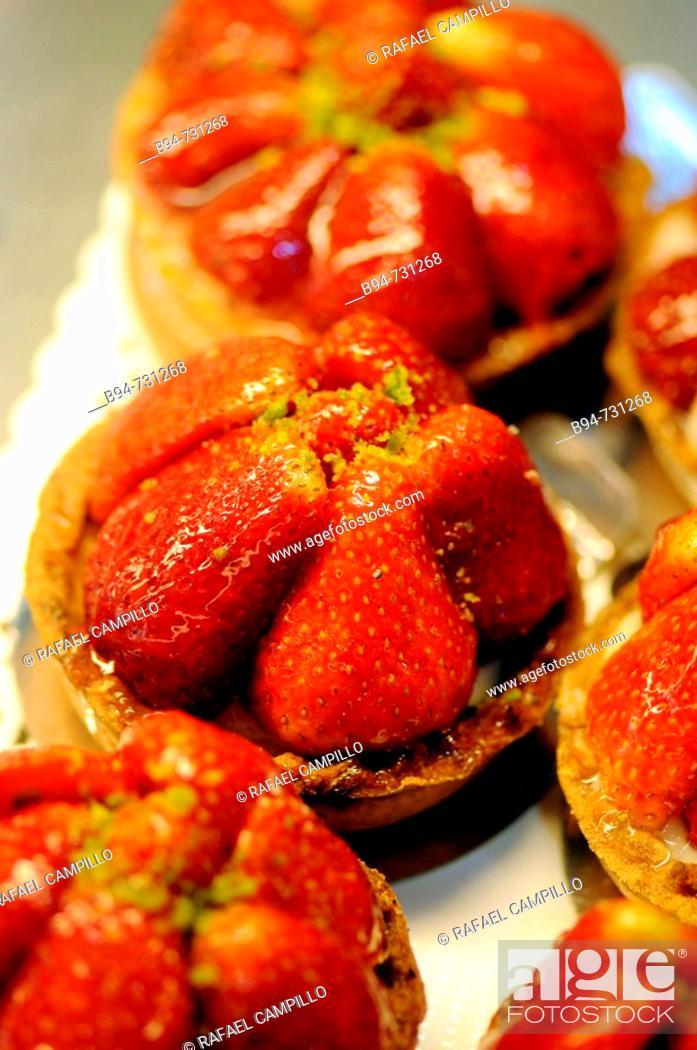 Stock Photo: Strawberry cakes.