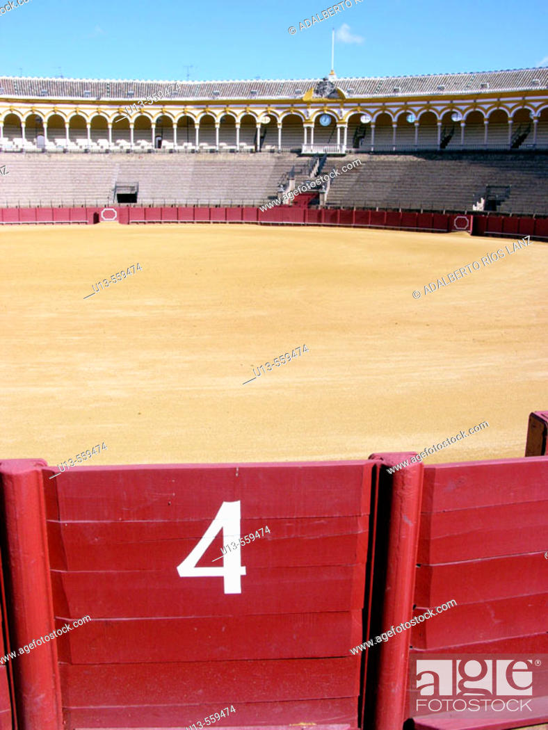 Stock Photo: Real Maestranza, the oldest bullring in Spain (18th century, late baroque style) . Seville, Spain.