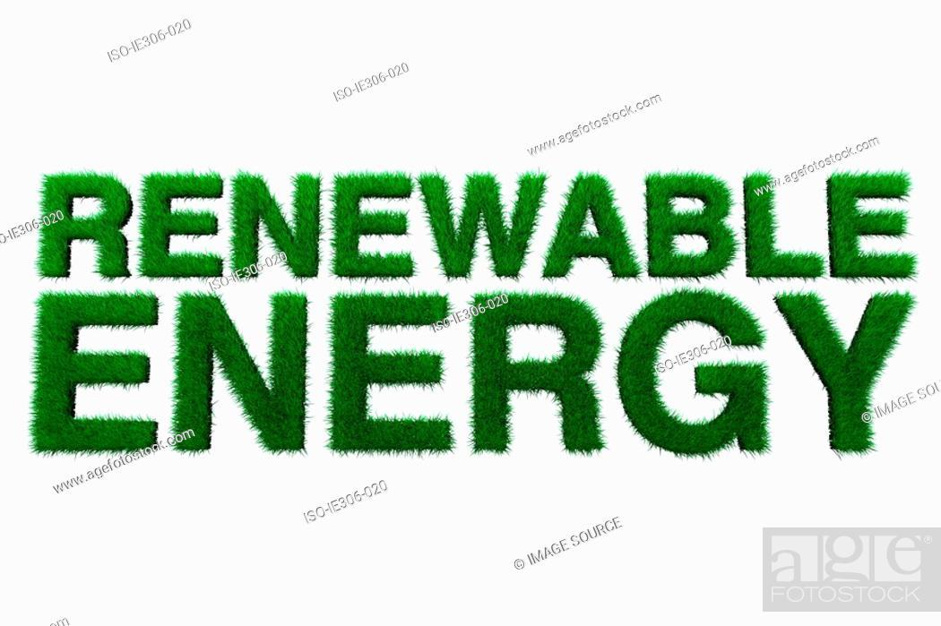 Stock Photo: Renewable energy sign.