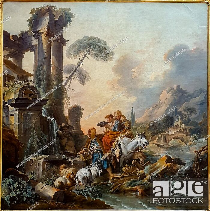 Imagen: 'Rest at a Well', 1735, François Boucher (1703-1770).