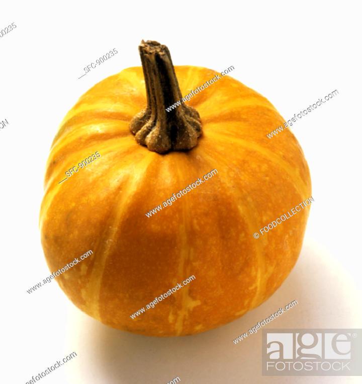 Stock Photo: A Small Pumpkin.