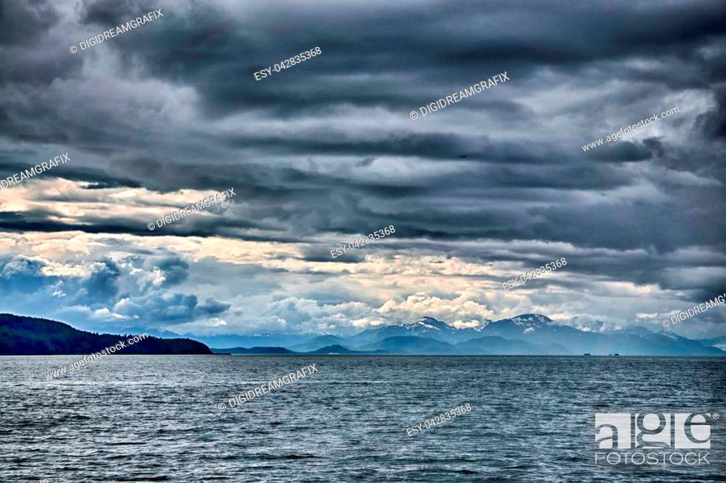 Stock Photo: Alaska - Travel Destination - Whale Watching Adventure.