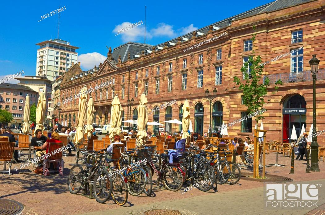 Stock Photo: Strasbourg, Kleber square, UNESCO world heritage site, Place Kleber, Alsace, Bas Rhin, France, Europe.