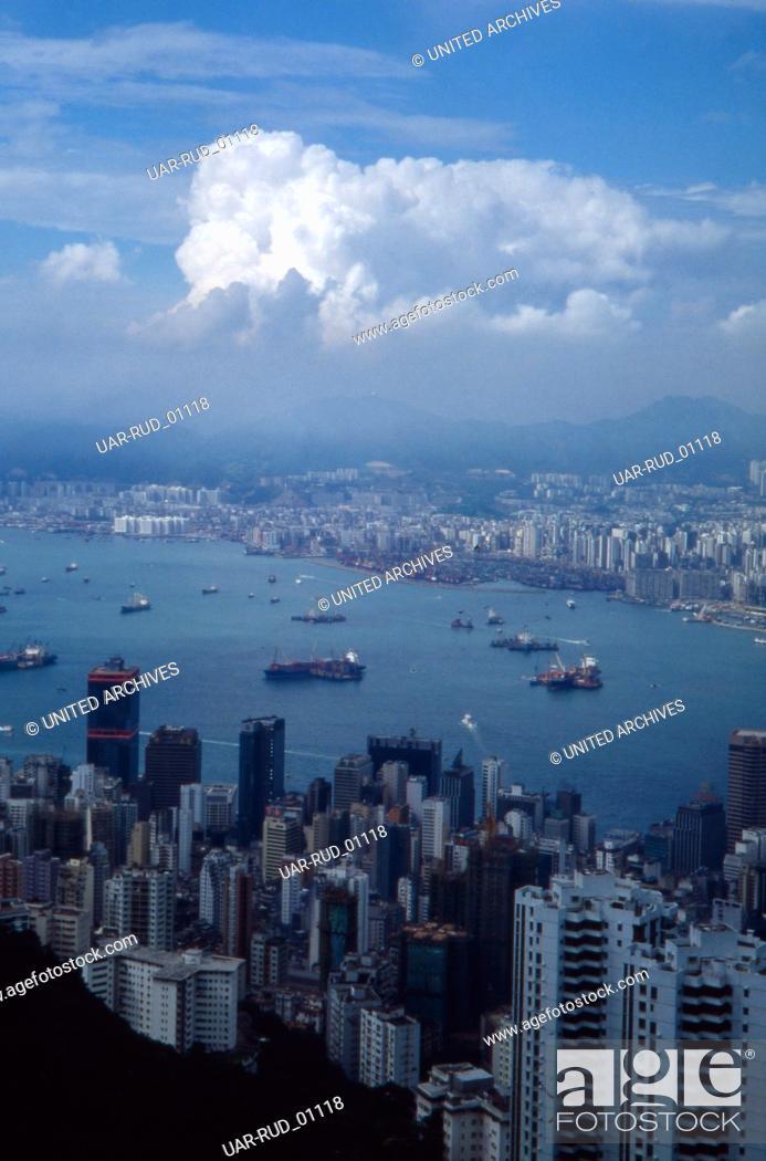Imagen: Der Victoria Harbour in Hongkong, 1980er Jahre. Victoria Harbour in Hongkong, 1980s.