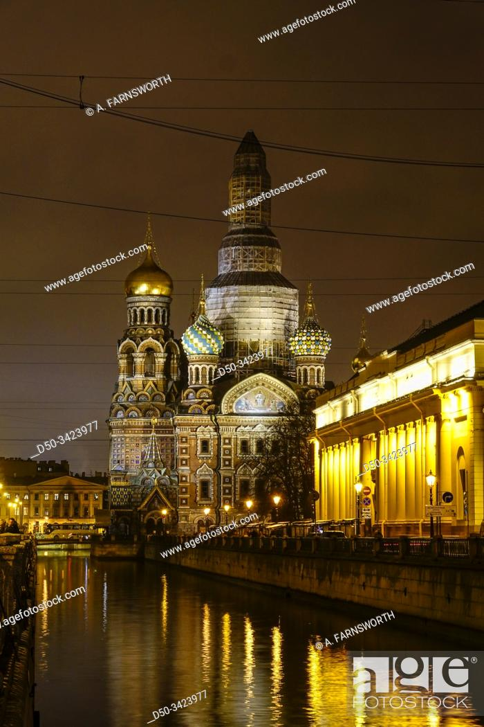 Stock Photo: St Petersburg, Russia Savior on the Spilled Blood church from the 1880s.