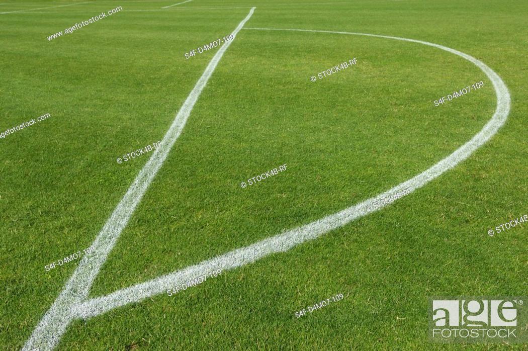 Stock Photo: Soccer field.