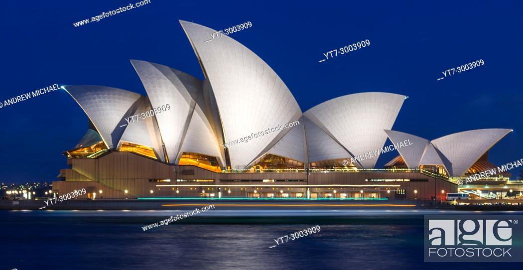 Stock Photo: Sydney Opera House after dark. NSW, Australia.