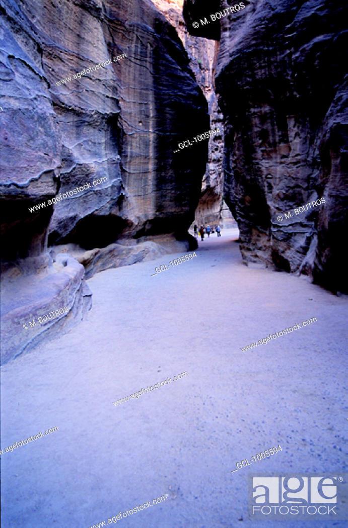 Stock Photo: The Siq in Petra, Jordan.
