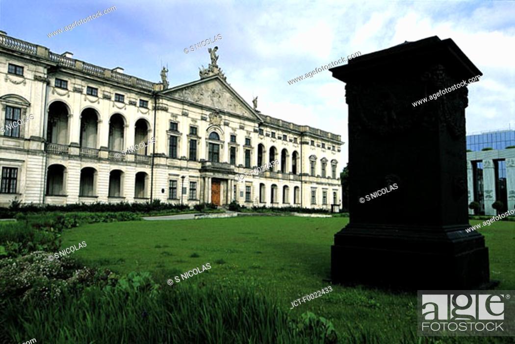 Stock Photo: Poland, Wasaw, Krasinskich Palace.