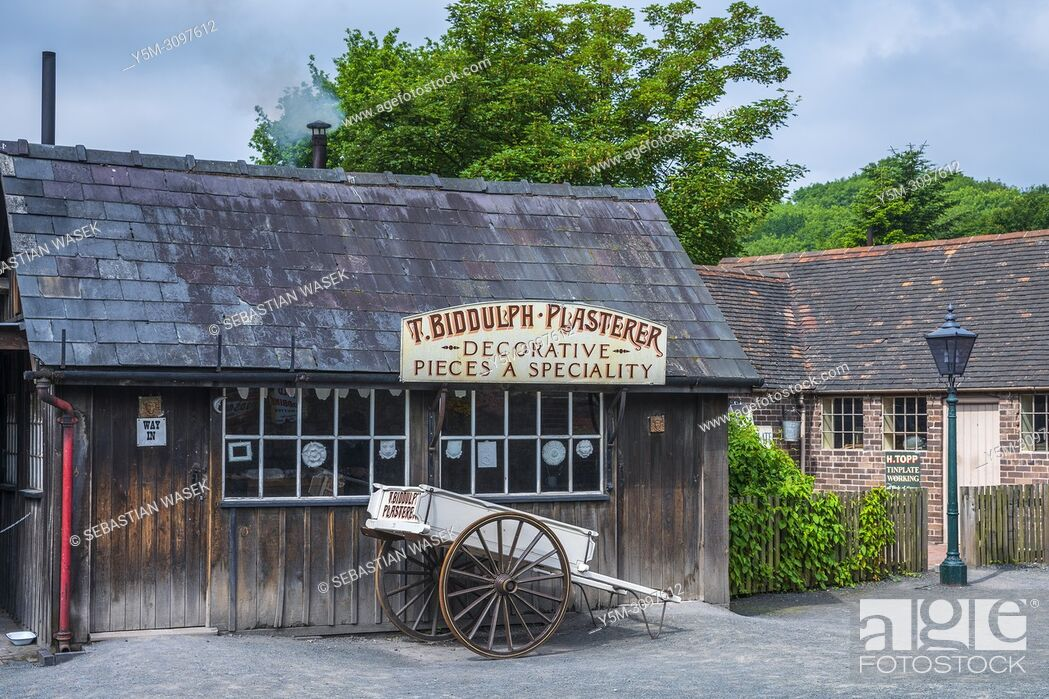 Stock Photo: Blists Hill Victorian Town, Telford, Shropshire, England, United Kingdom, Europe.