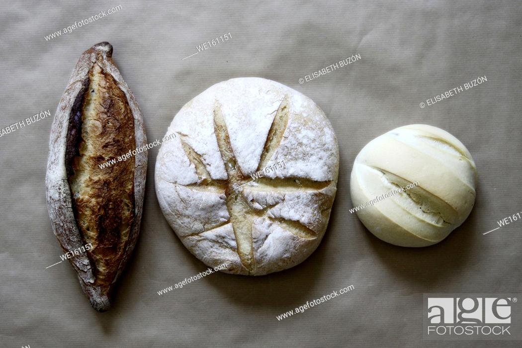 Stock Photo: Picture about different kinds of breads.