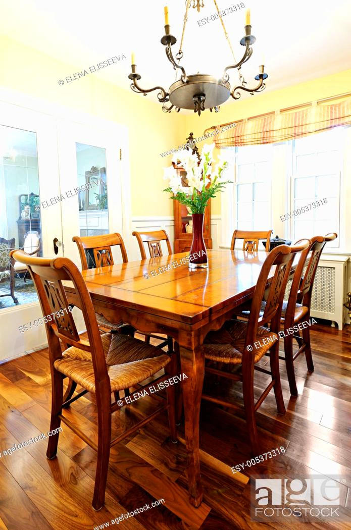 Stock Photo: Dining room interior.