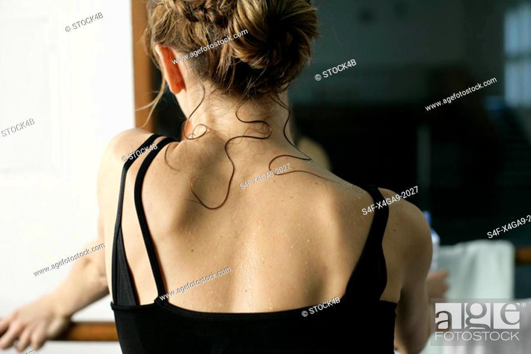 Stock Photo: Sweaty Female ballet dancer.