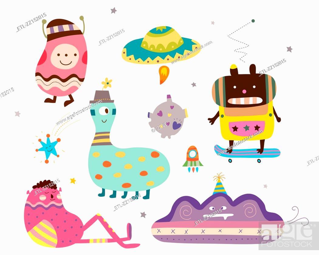 Stock Photo: various creature.