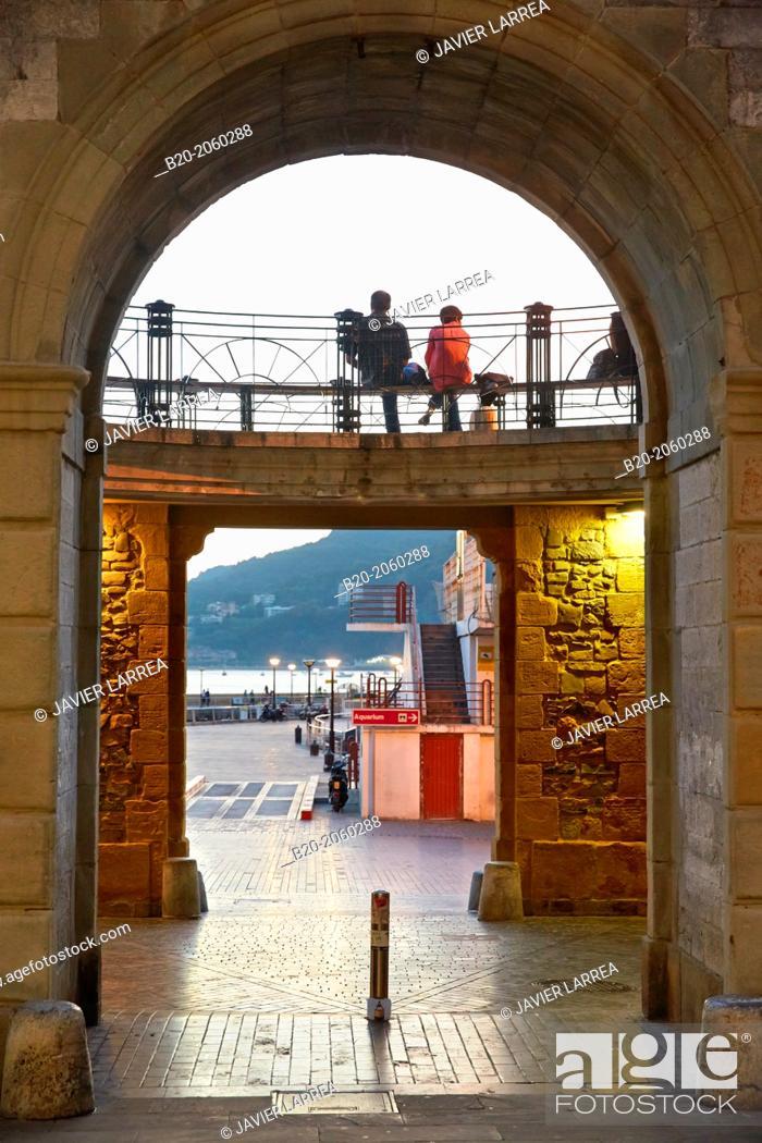 Stock Photo: Parte vieja. Old town. Donostia. San Sebastian. Basque Country. Spain.