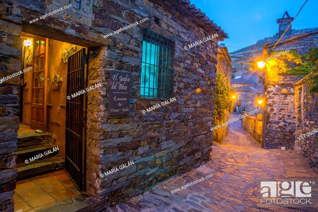 Facade Of Restaurant And Street Night View Patones De