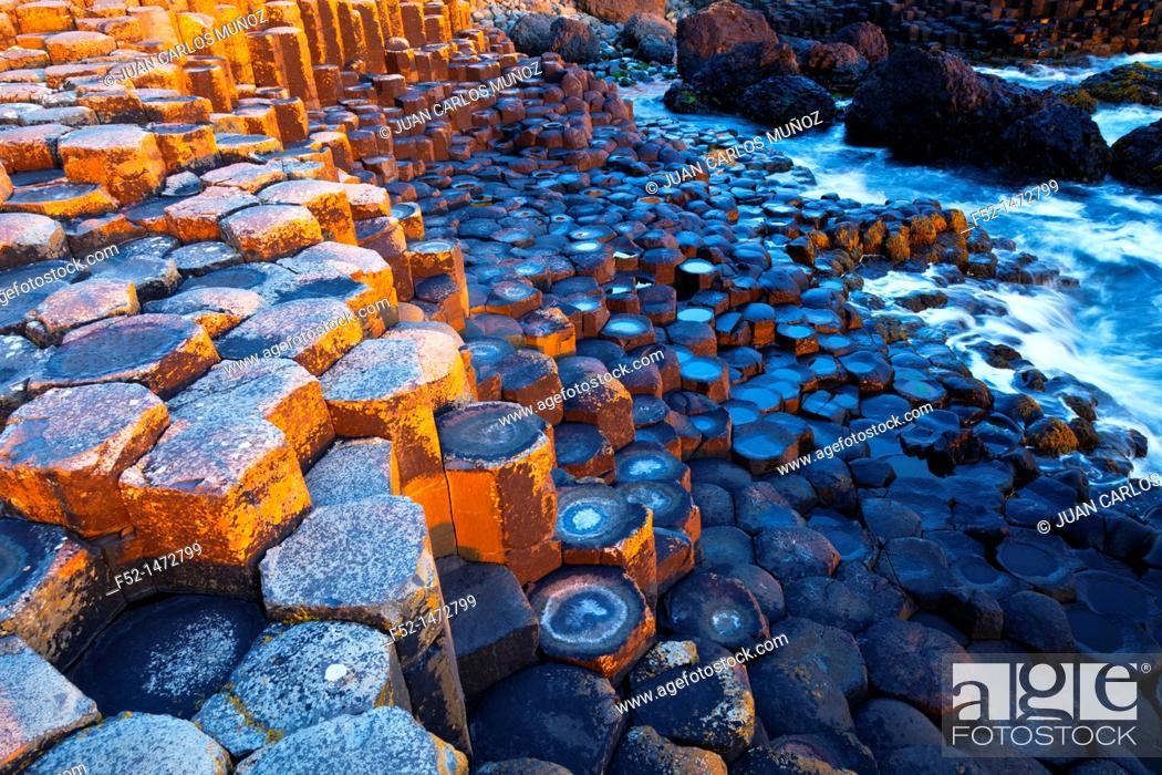 Stock Photo: The Giant's Causeway  World Heritage Site  Antrim County, Northern Ireland, Europe.