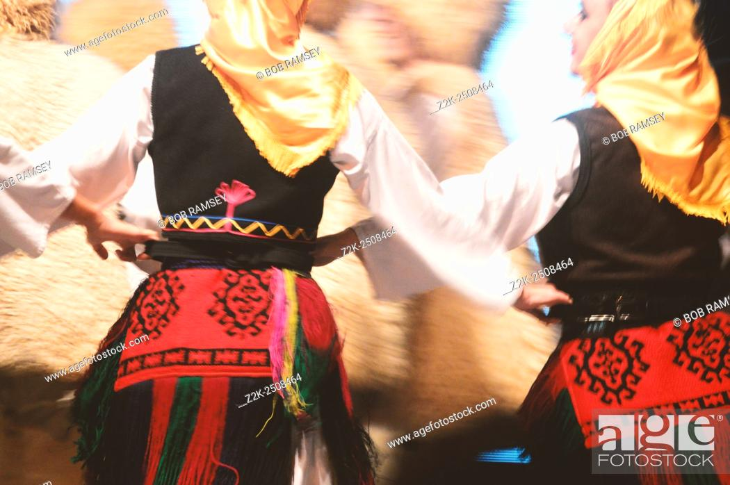 Stock Photo: Traditional women dancers in Serbia.