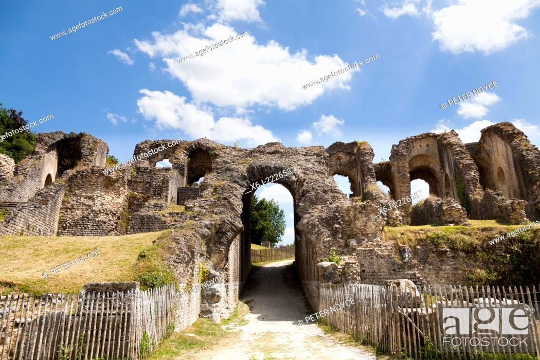 Stock Photo: Entrance to the arena of the Roman amphitheatre in Saintes France.