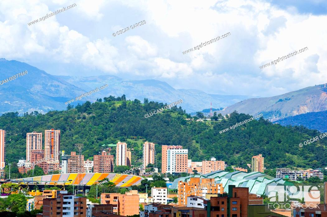 Stock Photo: Panoramic of the City of Medellin, Antioquia, Colombia.