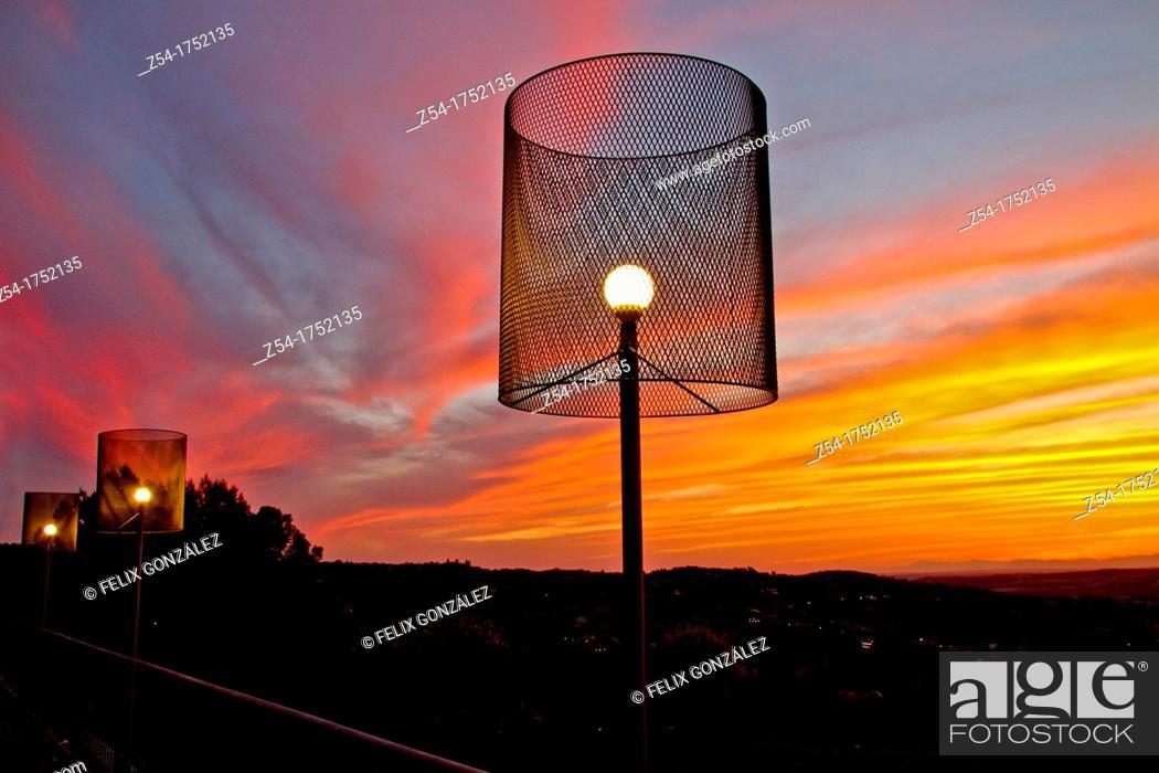 Stock Photo: Sunsert at Toledo, Castile La Mancha, Spain.